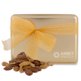 Deluxe Nut Medley Gold Large Tin-Ambit Energy  Engraved