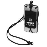 Black Strappy Mobil Device Pocket-