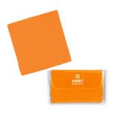 Orange Microfiber Cleaning Cloth in Case-