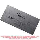 Brushed Silver w/ Black Name Badge-Independent Consultant Engraved