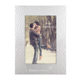 Silver Textured 4 x 6 Photo Frame-Engraved
