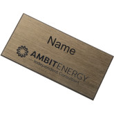 Brushed Gold w/ Black Name Badge-Ambit Energy Independent Consultant  Engraved