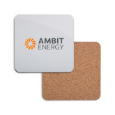 Hardboard Coaster w/Cork Backing-Ambit Energy