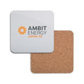 Hardboard Coaster w/Cork Backing-Ambit Energy Japan