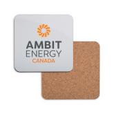 Hardboard Coaster w/Cork Backing-Ambit Energy Canada
