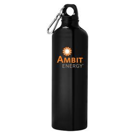 Venture Aluminum Black Bike Bottle 26oz-