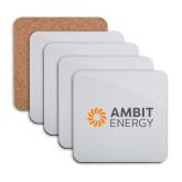 Hardboard Coaster w/Cork Backing 4/set-Ambit Energy