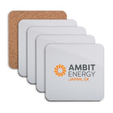 Hardboard Coaster w/Cork Backing 4/set-Ambit Energy Japan