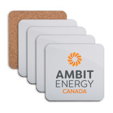 Hardboard Coaster w/Cork Backing 4/set-Ambit Energy Canada