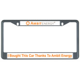 Metal License Plate Frame in Black-, I Bought This Car Thanks To Ambit Energy