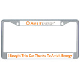 Metal License Plate Frame in Chrome-, I Bought This Car Thanks To Ambit Energy
