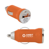 On the Go Orange Car Charger-Ambit Energy