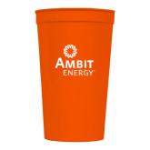 22 oz Orange Transparent Stadium Cup-