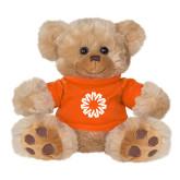 Plush Big Paw 8 1/2 inch Brown Bear w/Orange Shirt-Spark