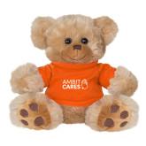 Plush Big Paw 8 1/2 inch Brown Bear w/Orange Shirt-Ambit Cares