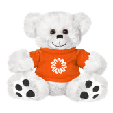 Plush Big Paw 8 1/2 inch White Bear w/Orange Shirt-Spark