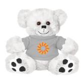 Plush Big Paw 8 1/2 inch White Bear w/Grey Shirt-Spark