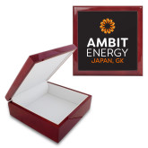 Red Mahogany Accessory Box With 6 x 6 Tile-Ambit Energy Japan