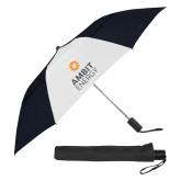 42 Inch Slim Stick Black/White Vented Umbrella-Ambit Energy