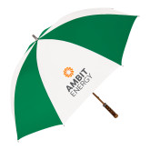 64 Inch Kelly Green/White Umbrella-Ambit Energy