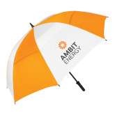 62 Inch Orange/White Vented Umbrella-Ambit Energy