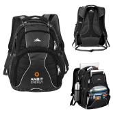 High Sierra Swerve Black Compu Backpack-Ambit Energy