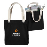 Allie Black Canvas Tote-Ambit Energy