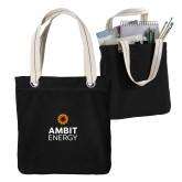 Allie Black Canvas Tote-Ambit Energy