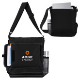 Impact Vertical Black Computer Messenger Bag-Ambit Energy
