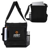Impact Vertical Black Computer Messenger Bag-Ambit Energy