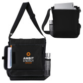 Impact Vertical Black Computer Messenger Bag-Ambit Energy Canada