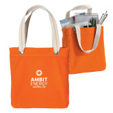 Allie Orange Canvas Tote-Ambit Energy Japan