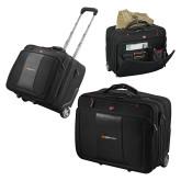 Wenger Transit Wheeled Black Compu Briefcase-Ambit Energy Japan