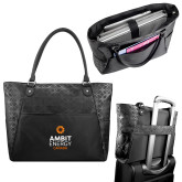 Sophia Checkpoint Friendly Black Compu Tote-Ambit Energy Canada