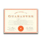 8.5x11 Satisfaction Guarantee Certificate, English-
