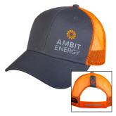 Orange/Charcoal Mesh Hat-