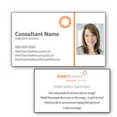 Consultant Photo Business Cards, Pick Your Back Option-Photo w/ Spark