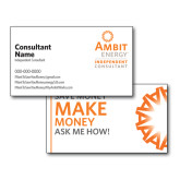 Consultant Business Cards, Pick Your Back Option-Independent Consultant, Stacked Logo