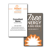 Consultant Business Cards, Pick Your Back Option-Independent Consultant, Vertical Design