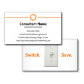 Consultant Business Cards, Pick Your Back Option-Spark On Top