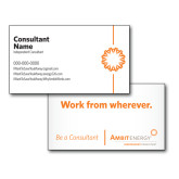 Consultant Business Cards, Pick Your Back Option-Spark On Side