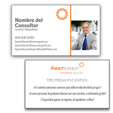 Consultant Business Cards, Pick Your Back Option-Photo with Spark, Spanish