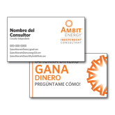 Consultant Business Cards, Pick Your Back Option-IC Stacked Logo, Spanish