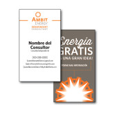 Consultant Business Cards, Pick Your Back Option-IC Vertical Design, Spanish