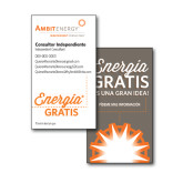 Consultant Business Cards, Pick Your Back Option-Free Energy, Spanish