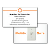 Consultant Business Cards, Pick Your Back Option-Spark On Top, Spanish