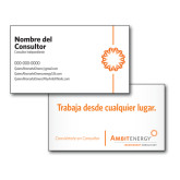 Consultant Business Cards, Pick Your Back Option-Spark On Side, Spanish