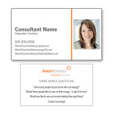 Consultant Photo Business Cards, Pick Your Back Option-Photo, No Ambit Logo