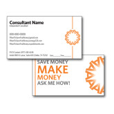 NY Consultant Business Cards, Pick Your Back Option-