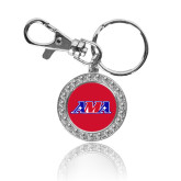 Crystal Studded Round Key Chain-AMA